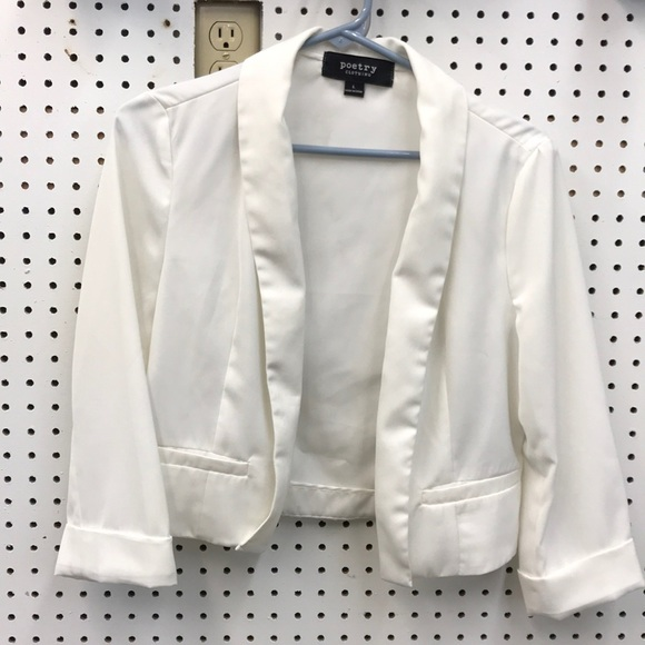 Poetry Jackets & Blazers - Poetry Large white jacket